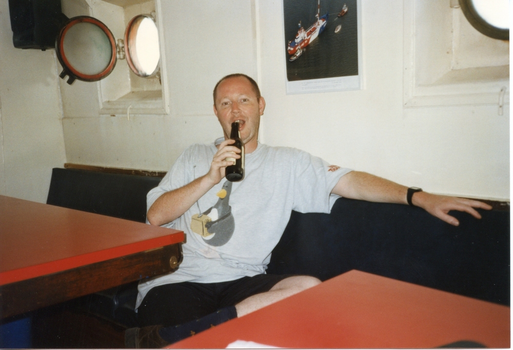 Mike Davies with a beer... ;-)